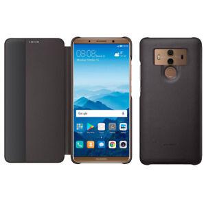 Original Huawei Mate 10 Pro Smart View Flip Case Cover PC+PU Case Wake Up/Sleep
