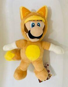 """BNWT Nintendo SAN-EI Super Mario 3D Land Kitsune Luigi 9"""" Plush Toy Fox"""