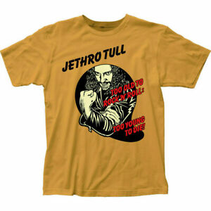 Jethro Tull Too Young to Die T Shirt Mens Licensed Rock N Roll Music Tee Gold