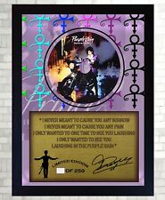 Purple Rain PRINCE SIGNED FRAMED PHOTO CD Disc Purple Rain Perfect gift #4