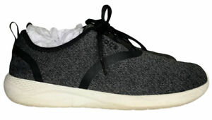 Crocs Literide Womens 8 Lace-up Sneakers Fabric Heather Knit Black Shoes COMFORT
