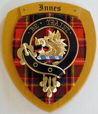 NOS Scottish Clan INNES Oak Tartan Plaque Crest BE TRAIST