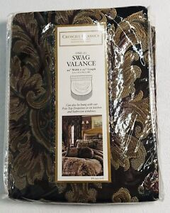 "Swag Valance Croscill Classics 44"" Width x 25"" Length Plum Serafina Style #9475"