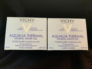 NEW 2PK Vichy Aqualia Thermal Mineral Water Gel, 48Hr Hydrate (1.69 oz) EXPIRED