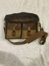 Mens Messenger Bag Vintage Genuine Leather Large Laptop Briefcase 15.6 Inch Bag