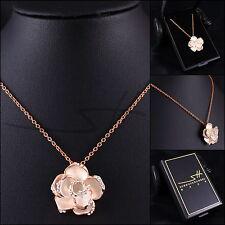 Rosenkette Halskette Kette *Rose*, Rosegold pl., Swarovski Elements, inkl. Etui