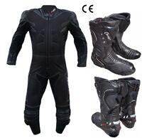 Stivali Moto Tuta Touring Stradale in Pelle Tessuto intera Gobba Protezioni CE