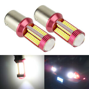 SOCAL-LED 2x 1157 2357 Bright White SMD Projector Back up Tail Signal Light Bulb
