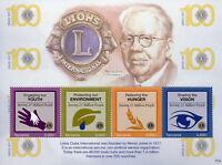 Tanzania 2017 MNH Lions Club International 100th Ann Melvin Jones 4v M/S Stamps