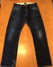 Civlianaire Japanese Denim Jeans Sz 31 11 OZ GOLD SELVAGE DENIM SLIM JEAN INDIGO