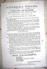 J325-PERIODO NAPOL.-REP.ITALIANA-AMNISTIA PER COSTITUZIONE LEGIONE ITALIANA 1803