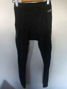 Ladies Santic Black 3/4 Cycling Stretch Trousers Size 28'' Waist