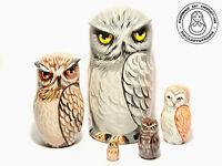 Nesting Dolls Owl, 5 pieces Matryoshka 6,2 in.