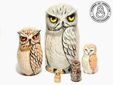 Nesting Dolls Owls, 5 pieces Matryoshka 6,2 in.