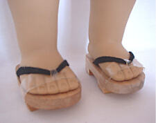 "Doll Clothes AG 18"" Sandals Japanese Wooden Made To Fit American Girl Dolls"
