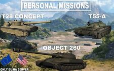 World Of Tanks   PERSONAL MISSIONS   T28 HTC   T55-A   OBJECT 260   WOT