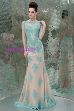 New Muslim / teal / blue wedding bridal Party Gown Dress size 8 full sleeve