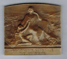 FRANCE - COMPAGNIE GENERALE D'ELECTRICITE - 70x63 mm - graveur : E.BLIN