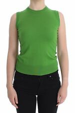 NWT $560 DOLCE & GABBANA Green Cashmere Tank Cami Pullover Vest Top IT40/US6 /S