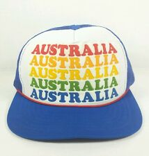 Vtg Australia Trucker Hat Cap Rainbow Colors Foam Mesh Snapback Nice Condition