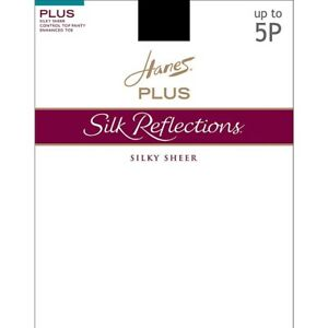 Hanes Silk Reflections Plus Sheer Control Top Enhanced Toe Pantyhose -12 CHOICES