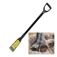 Heavy Duty Root Cutter Chisel Edged Scraper With D Top Spade Handle - Tree Roots