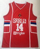 Nikola Jokic Serbia Russia FIBA Jersey Joker Serbian National Jersey Stitched
