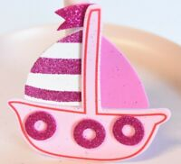 10 FAVORS BABY SHOWER PINK FOAM RECUERDOS NAUTICAL BIRTHDAY GIRL PARTY SAIL BOAT