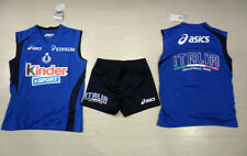 10441 Fw13 Womens Vest Top+Shorts L Italy Volleyball Fipav Lady Official Set