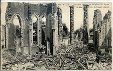CP 62 - PAS-DE-CALAIS - Béthune - Dans les ruines de l'Eglise St-Waast