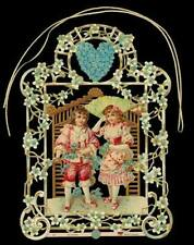 vintage style Christmas Window or Tree Decoration Victorian Children Theme