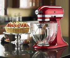 Kitchenaid Candy Apple Red Tilt Artisan Stand Mixer 5q Glass Bowl KSM155GBca