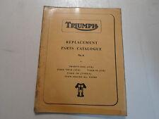 1966 Triumph Replacement Parts Catalog No.6 3TA 5TA T90 T100S/S FACTORY OEM DEAL