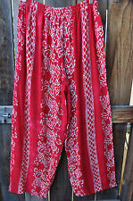 ART TO WEAR ANACAPA PANTS IN RUBY RED BY MISSION CANYON,OS+, NWT!,
