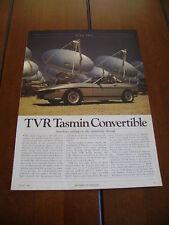 1983 TVR TASMIN  ***ORIGINAL ARTICLE / ROAD TEST