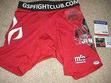 GSP Georges St Pierre UFC Signed Auto red Shorts Rare COA and PSA/DNA COA!