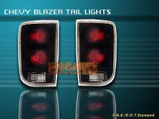 95-04 CHEVY S10 BLAZER JIMMY TAIL LIGHTS BLACK 03 02 01