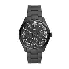Fossil Mens Belmar Multifunction Black Stainless Steel Chronograph Watch FS5576