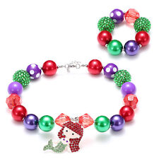 Girl/Kids's Mermaid Princess Acylic Beads Chunky Necklace/Bracelet Jewelry Set