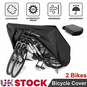 Double Bicycle Bike Cycle Cover Waterproof Rain Dust Sun Protector Resistant UK