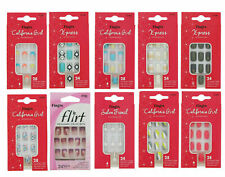 SALE New Fingrs Nail Tips with Glue Assorted Patterns Fake False Nails French UK