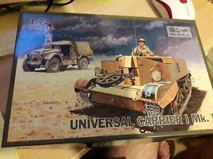 UnBUILT JOBLOT 1/72nd WW2 BRITISH UNIVERSAL CARRIER Mk1 New IBG MODELS + decals