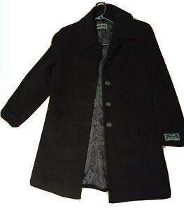 Black Wool Cashmere Women Coat Size 12