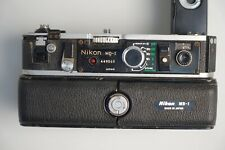 Nikon MD-2 and MB-1 motor mount and battery attachment for NIKON F2 and charger