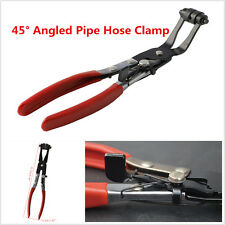 Universal 45° Angled Pliers Car Pipe Hose Clamp Swivel Jaw Locking Clip Pliers