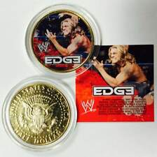 WWE Wrestling EDGE Colorized JFK Kennedy Half Dollar 24K Gold Plated US Coin WWF