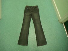 "Wallis Bootcut Jeans Size 8 Leg 30"" Black Faded Ladies Jeans"