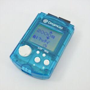 Dreamcast Visual Memory AQUA BLUE HKT-7000 NO Cap Sega 1109 Official dc