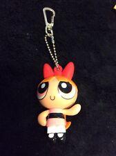 "Powerpuff Girls Blossom Keychain Clip Lights Up Eyes 3"" Cartoon Network Warner B"