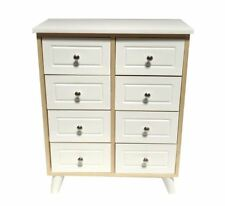 White Pine Shabby Chic 8 Chest of Drawer Hallway Bedroom Storage Bedside Cabinet